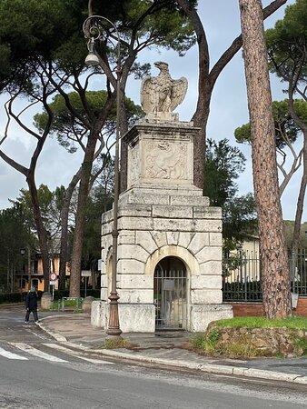Porta Pinciana with entrance to Villa Borghese.