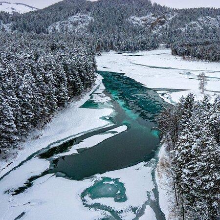Altai Krai, Russia: Изумрудная , зимняя красавица Катунь ❣