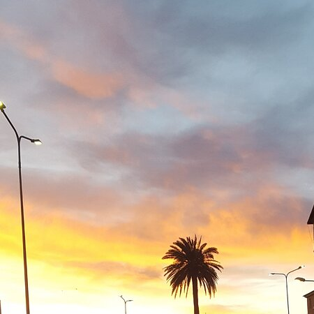 Genoa, Italy: The colors of sunset. 10 February 2021. Good evening to all' of you@