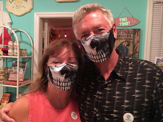 Mask contest at Haunted Sarasota Tour - October 2020.