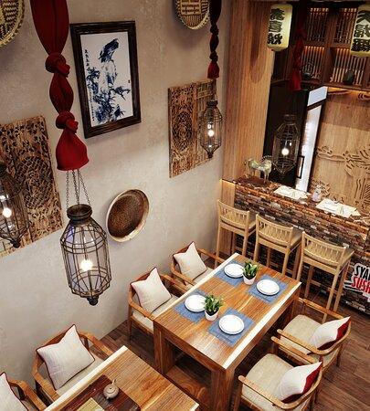 Interior decorations of Syake Sushi Hurghada