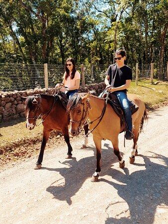 Aqui iniciamos a cavalgada em direção as mais belas paisagens e vista para o canyon.