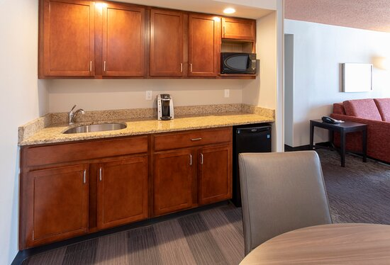 Kitchen area in our large suite