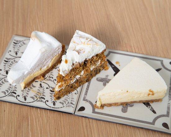 Cheese Cake Carrot Cake Lemon Pie ¿Con cual te quedas?