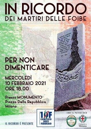 Milan, Italy: Locandina della commemorazione serale