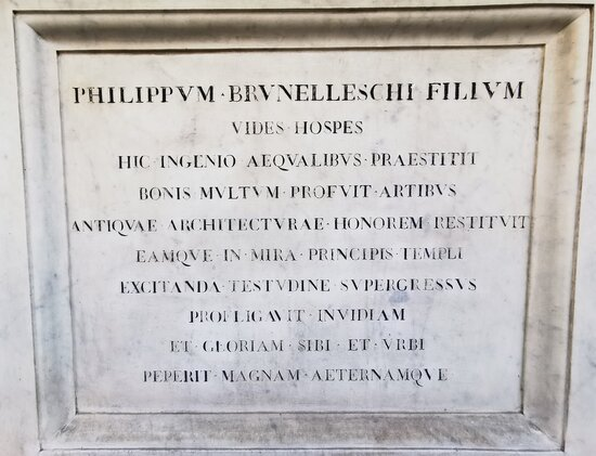 Statues of Arnolfo di Cambio e Filippo Brunelleschi