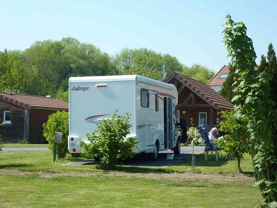 Aire de camping car stabilisé