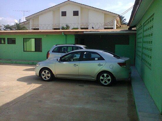 Haatso, Ghana: Car Park
