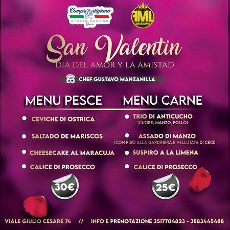 Menù San Valentino peruviano
