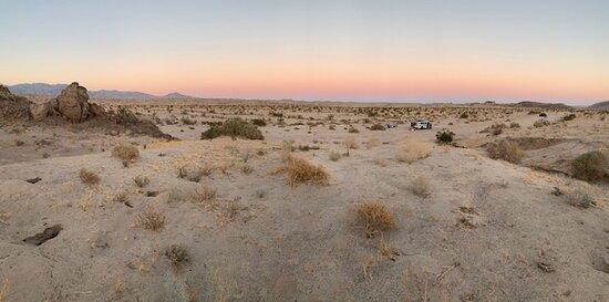 The 'Belt of Venus' Anza Borrego Desert at sunset