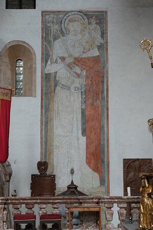Gurk, Αυστρία: 北側の壁に描かれていたクリストフォロスChristophoros。