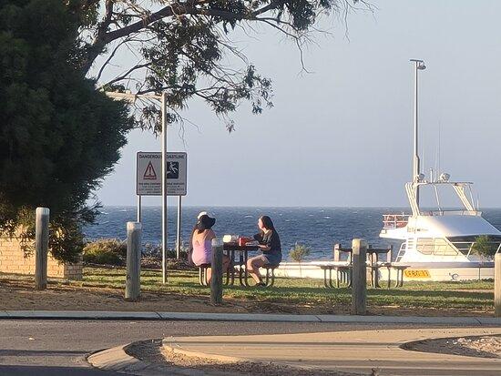 Leeman, Australia: Restaurant view