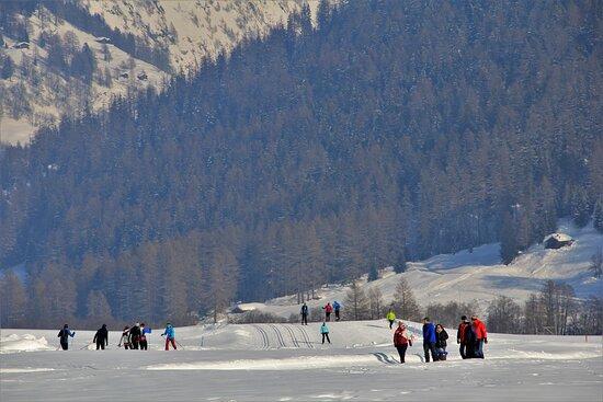 Oberwald, Schweiz: Valle di Goms. Alto Vallese. 13 Febbraio 2021.