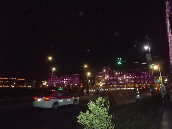 """The """"night view"""" of the Plaza's south side"""