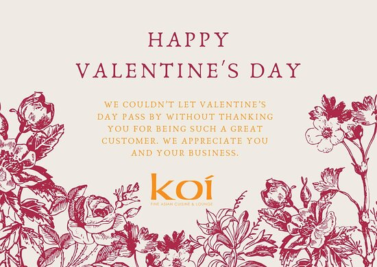 #HappyValentinesDay2021 #wish #YouAreLoved #koievanston We have your last minute meals covered. you can place order online for takeout. half off bottles wine. www.koievanston.com