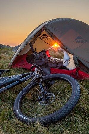 Bikepacking on the flacks of Snowdonia