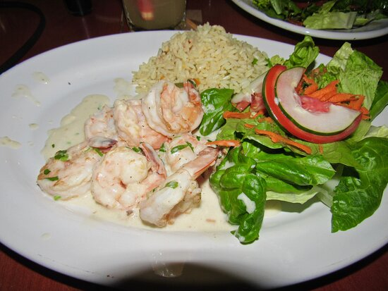 My shrimp in a cream sauce. It was excellent!