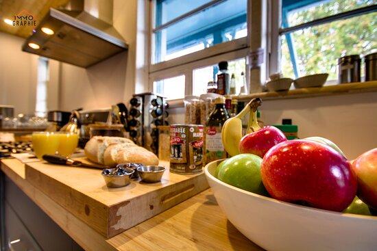 Saint-Jean-des-Piles, Canada: De bons petits déjeuners santé!
