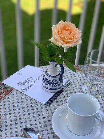 Special breakfast setting