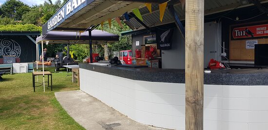 Beautiful Outside Garden bar at Matata Hotel Bay of Plenty NZ.  Also  caters for private events and live music.
