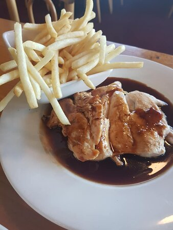 Hubby loved his chicken breast.The plum sauce is divine.