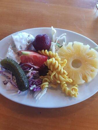 Nice healthy salad.