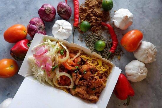 Meze Wrap's Chicken Turmeric Rice