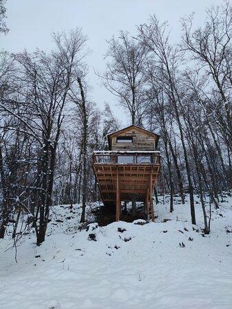 Nuestra cabaña desde fuera.