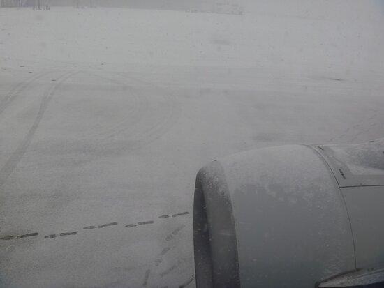ANA (All Nippon Airways): 大雪の函館空港
