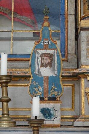 祭壇の右手にマンディリオン Mandylion。