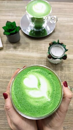 Best Matcha in Town! 💚 Can't wait to try all the cakes, my best was the Matcha Panna cotta and the Matcha latte! 😍 Uniqe place in BP! 🍵