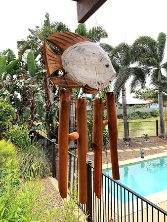 Tiaro, أستراليا: Bamboo wind chime installed at home