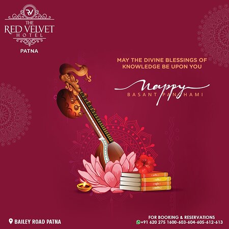 May the goddess of divine knowledge and melody bless you with success, prosperity and more. The Red Velvet Hotel wishes you and your family Happy Vasant Panchami!