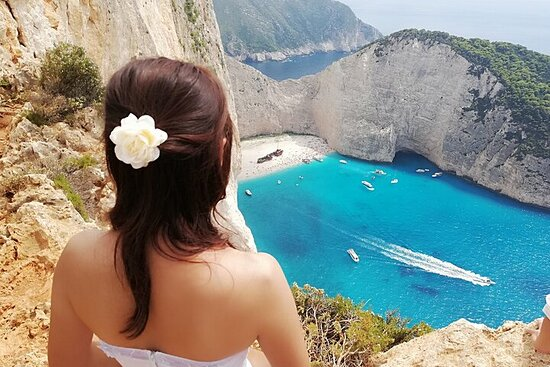 Zakynthos All Day Tour Shipwreck beach, view point-Blue Caves, small...