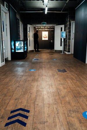 Runway Gallery corridor leading to the main Gallery doors