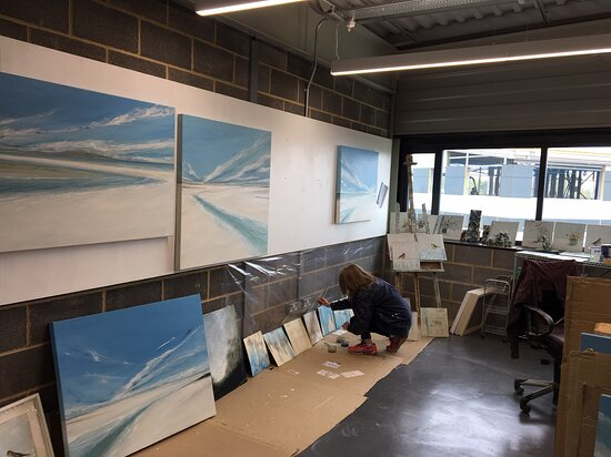 Resident Artist studios are free to view upstairs (image: Jane Skingley)