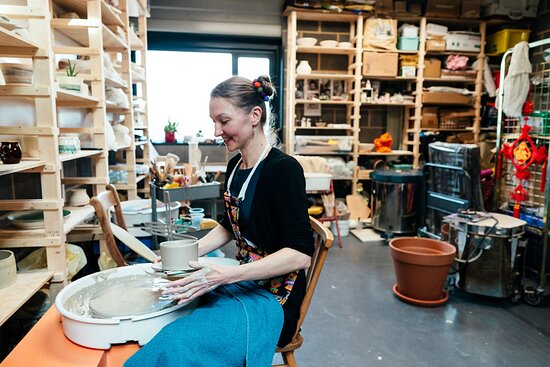 Resident Artist studios are free to view upstairs (image: Cáit Gould)