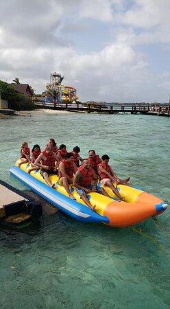 De Palm Island own Transportation: Banana boat