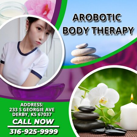 Arobotic Body therapy is an Asian massage spa designed to help you reduce stress, relieve build up chronic pain, and increase the overall quality of your life! We specialize in multiple affordable, customized treatments to meet the needs of a wide variety of clients in a peaceful setting! We are proud to be providing Authentic Asian Massage therapy services in our beloved community of Derby, KS!