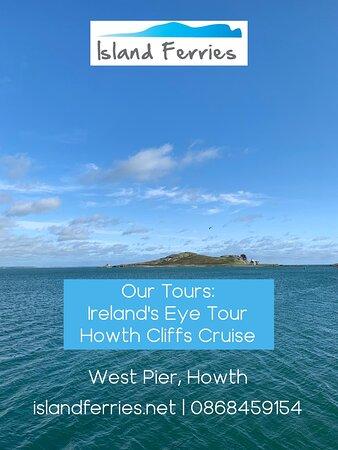 Tour Information:  Ireland's Eye Tour  Howth Cliffs Cruise