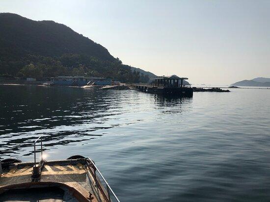 Approaching the main Sharp Island Ferry Pier