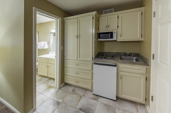 Guest bedroom has a separate kitchenette