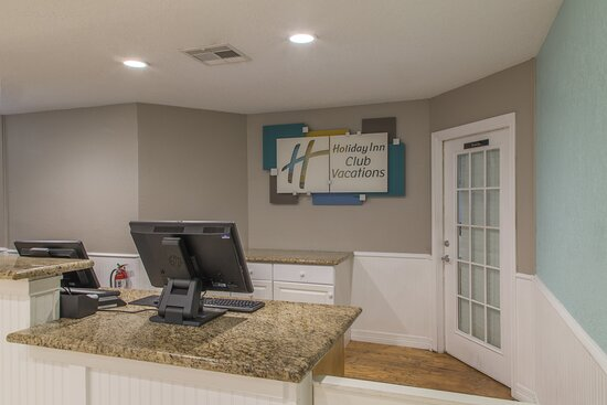 Seaside Resort front desk where guests check into the resort