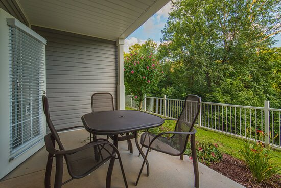 Furnished patio or balcony in a 2- and 3-bedroom villa grand