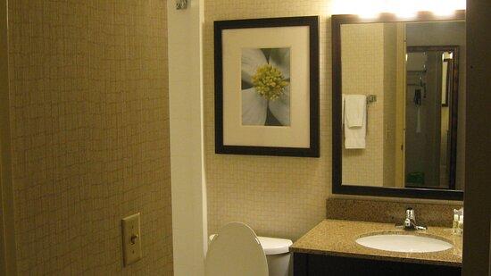 Get Ready in Comfort in a Holiday Inn Elmira Guest Bathroom