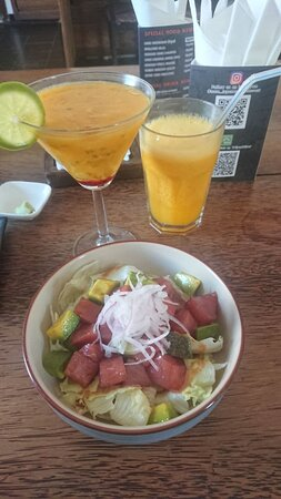 Tuna salad + signature cocktail