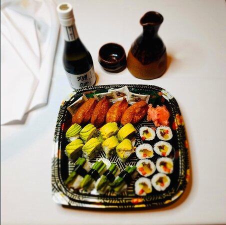 Mixed Vegetarian Sushi selection