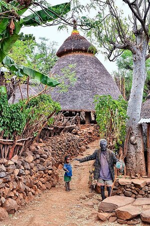 konso traditional house,