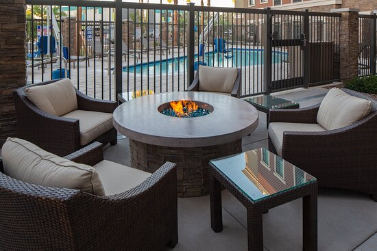 Relax around the firepit on the patio