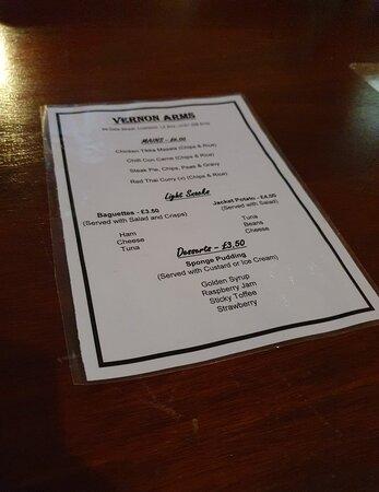 The Vernon Arms Pub, a great pub.